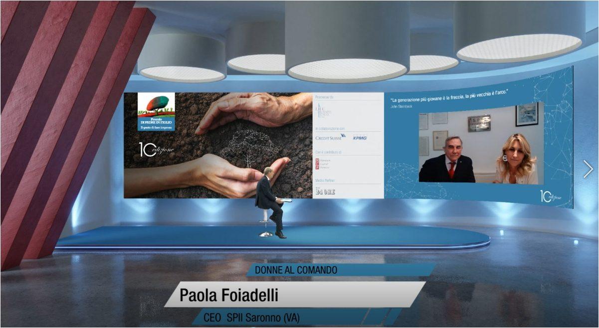 foto di paola foiadelli in videointervista